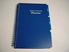 Blue ~ Weekly Daily Monthly Planner ~ Appointment Book ~ Student Planner ~ New