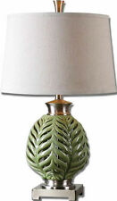 """Flowing Fern Green Ceramic Table Lamp 27""""H by Uttermost 26285"""