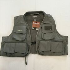 2012 SIMMS FREESTONE VEST IN GUNMETAL XL - RETAIL $79.95