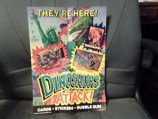 Dinosaurs attack Promotional Poster. Measures 14X10 Inches. Fresh Condition