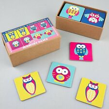 Floss & Rock Owls Memory Game Girls Set Pairs Educational Snap Card Games Gifts
