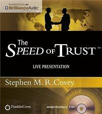 The Speed of Trust: Live Presentation by Stephen M.R. Covey Compact Disc Book
