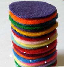 Círculos de Fieltro 4cm (paquete de 10, cualquier color) Die Cut Artesanía Adornos