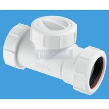 "Mcalpine PVC Waste Non Return Valve NRV for 1 1/2"" or 40mm Universal Fit Shower"