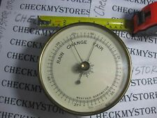 Antique Taylor Brass Wall Barometer RAIN/CHANGE FAIR, MADE IN Rochester New York