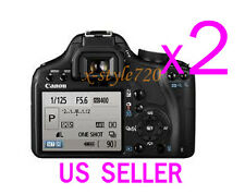 2x Canon EOS 500D Rebel T1i Clear LCD Screen Protector Guard Cover Film
