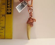 NEW FAKE TOOTH WITH EAGLE HEAD SOUVENIR KEYCHAIN ATTACHMENT