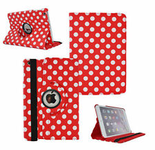 RED Fashion Dot Leather 360° Rotating Stand Case Cover For iPad 2/3/4 UK SELL