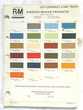 1975 CHEVROLET AND GMC TRUCK R-M COLOR PAINT CHIP CHART ALL MODELS ORIGINAL