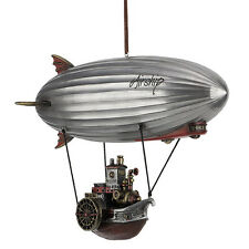 Steampunk Airship With Propeller Gondola Blimp Statue Science Fiction figurine