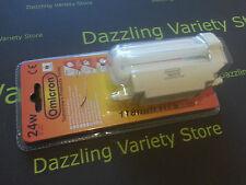 1 x OMICRON R7s 24w = 120w 118 Mm j118 lámpara ahorro de energía Seguridad Bombilla del Reino Unido