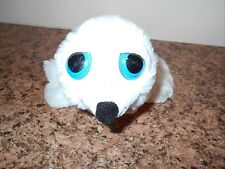 """THE PETTING ZOO PLUSH WHITE SEAL WITH POUCH 14"""" LGTH VGC CUTE"""