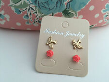 KIDS Stud Earrings Girl, Women 2 Pairs UK Seller FAST Shipping-BUY 2 GET 1 FREE