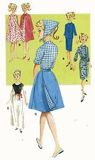 Vintage Doll Clothes PATTERN 2892 for 11.5 in Barbie Midge Francie  by Mattel