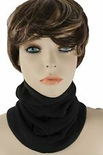 New Women Men Scarf Turtle Neck Warmer Head Cover Outdoor Face Mask Sport Black