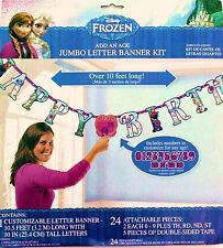 FROZEN ADD-AN-AGE JUMBO LETTER HAPPY BIRTHDAY BANNER PARTY SUPPLIES DECORATIONS