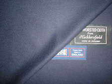 100% SUPER 120's WOOL WORSTED FLANNEL SUITING FABRIC MADE IN ENGLAND- 1.35 m