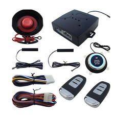Car Alarm System Keyless Entry Engine Ignition Push Starter Button Kits Durable