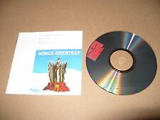 The Paul McCartney Collection Paul McCartney - Wings Greatest (1993) 12 track cd