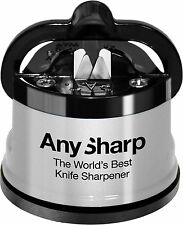 Knife Sharpener AnySharp Classic Silver World's Best 100% Genuine