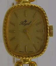 ROYAL  / Handaufzug / vergoldet / Swiss made