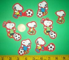 New! Cool! Peanut Snoopy Plays Soccer IRON-ONS FABRIC APPLIQUES IRON-ONS