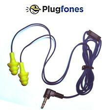 Yellow Plugfones Contractor Silicone Ear Plugs Earbuds Ear Protection Headphones