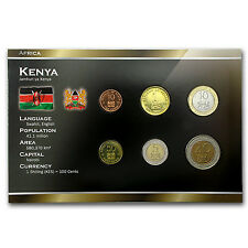 1995-2005 Kenya 10 Cents-20 Shillings Coin Set Unc