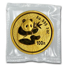 1 oz Gold Chinese Panda Coin - Random Year Coin - Sealed in Plastic - SKU #15