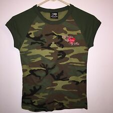 ROTHCO LADIES SMALL SIZED CAMOFLAGE SHIRT MY SOLDIER MY HERO MY SON