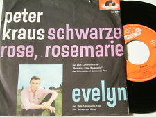 "7"" - Peter Kraus Schwarze Rose Rosemarie & Evelyn - 1961 MINT # 4585"