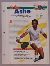 ARTHUR ASHE #12 TENNIS CHAMPIONS SPORTS HEROES BOOKLET