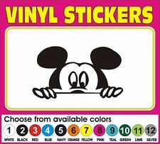 Disney peeping Mickey Mouse Mickie Car Truck window vinyl decal sticker