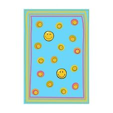 Smiley 8901 Blue Sitap cm. 140 x 200