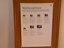 """VINTAGE APPLE RETAIL POSTER   --   MAC   """"WHICH MAC IS RIGHT FOR YOU?"""" Q"""