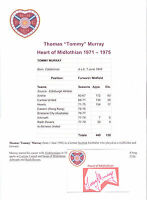TOMMY MURRAY HEART OF MIDLOTHIAN 1971-1975 ORIGINAL HAND SIGNED CUTTING/CARD