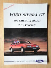FORD SIERRA GT orig 1988 French Mkt sales brochure - 2.0 2.3D Sapphire