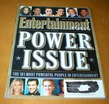 ENTERTAINMENT WEEKLY magazine 2001 Power Issue Robbie Coltrane N'Sync Lance Bass