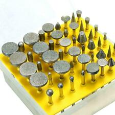 50pcs Diamond Tipped Coated Rotary Grinding Head Jewelry Burr Point Tool Grit 40