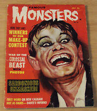 "July 1962 Magazine~""FAMOUS MONSTERS of FILMLAND""~Chaney/Lugosi/Colossal Man~"