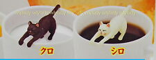 Japan Cats Lay On Cup Figure ,2 pcs - Kitan Club Gashapon   , h#10