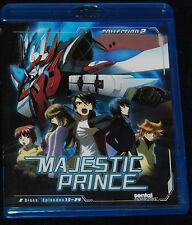 Majestic Prince Collection 2 (Blu-ray, 2014, 2-Disc Set) SENTAI ANIME 13-24 SET