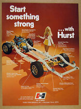 1973 Hurst Performance 14 Parts Upgrades on Car Chassis photo vintage print Ad