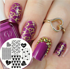 BORN PRETTY Nail Art Stamping Plate New Pattern Love Heart  Image Template BP61