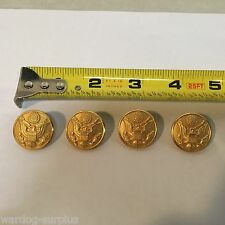New Set of 4 U.S. Army Issue Dress Coat Buttons Jacket Class A & ASU Blues Gold