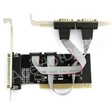 RS232 DB9 9 Pin Serial DB25 Parallel Port Printer Combo PCI Card PC Computer