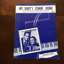 My Baby's Comin' Home Sheet Music 1952 Les Paul Mary Ford Capital Records
