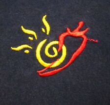 SOUTHWESTERN GRILL lrg polo shirt Sun & Chili Pepper embroidery restaurant