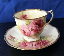 Vintage Royal Albert Crown China England American Beauty Tea Cup and Saucer