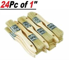 """24 Pc of 1"""" Chip Brush Brushes Perfect for Adhesives Paint Touchups 1 Inch"""